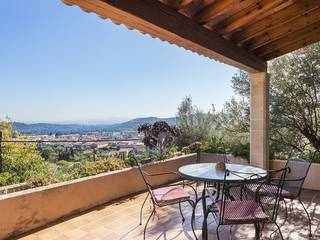 Lovely villa with pool and panoramic views over charming Alaró village and the countryside