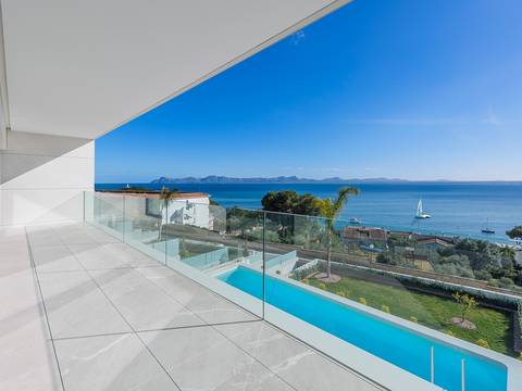 ALC40049RM Modern luxury villa with sea views in an exclusive location in Alcúdia