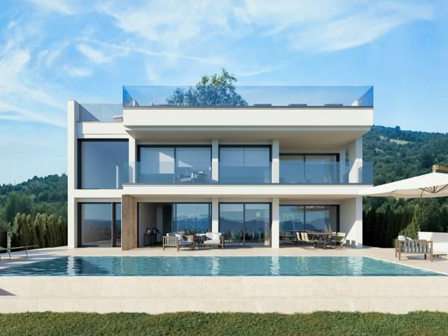 Ultra-modern villa with pool and spectacular views over Alcúdia bay in Alcanada