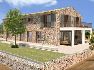 Deluxe country villa under construction in a peaceful area of Alcudia