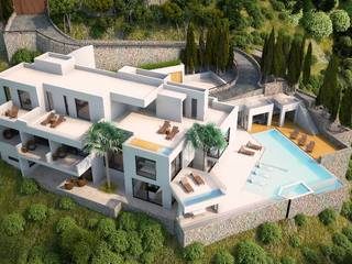 High quality villa project for sale directly by the sea in Canyamel
