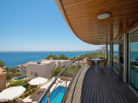 AUC4807POL4 Luxury villa in the exclusive area of Aucanada with panoramic views to the bay