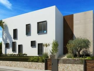 Luxurious contemporary villa under construction with pool and sea views in Bon Aire