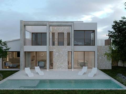 BON40599 Stylish, luxury villa project with pool, under construction in Bon Aire, Alcúdia