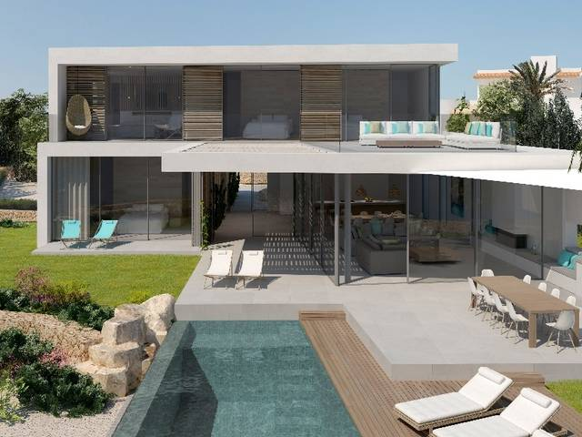 Luxury four bedroom villa project with sea views close to Cala d´Or