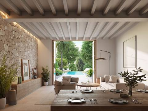 CAM20279 Luxury personalised town house renovation with pool in the centre of Campanet