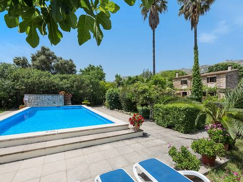 CAV50101 Traditional, three bedroom country villa with ETV license and pool in Pollensa