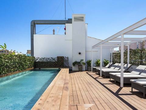 PAL11444 Apartment with community roof terrace and pool for sale in Palma, Mallorca
