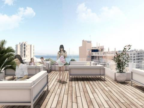 PAL11449 Amazing new apartment hotel design concept in Palmas new hot-spot