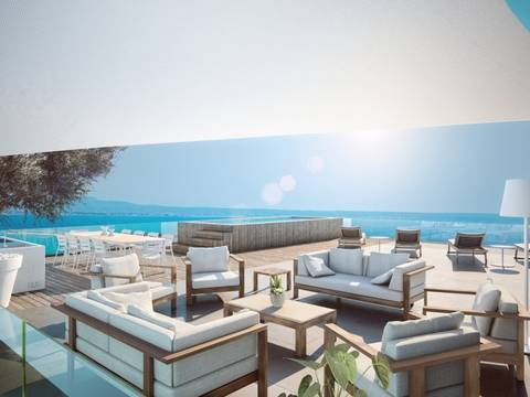 PAL11471 Residential project of luxury apartments with sea views in Bonanova