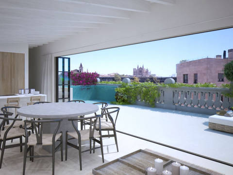 PAL11488 Finest Penthouse with private pool and terrace in Santa Catalina