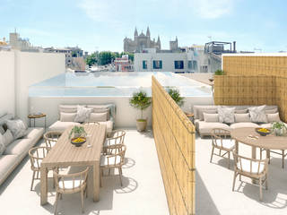 Luxury apartments project under construction in the old town of Palma