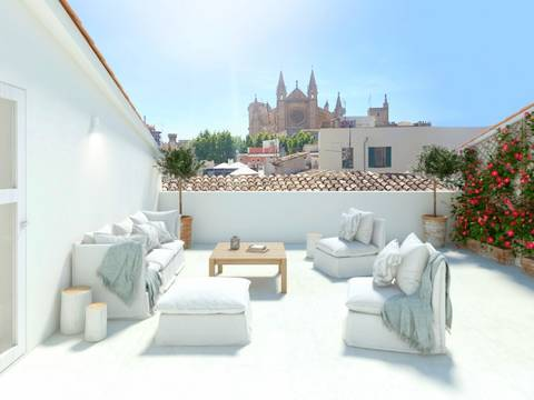 PAL11513 Luxury apartment project under construction in the old town of Palma