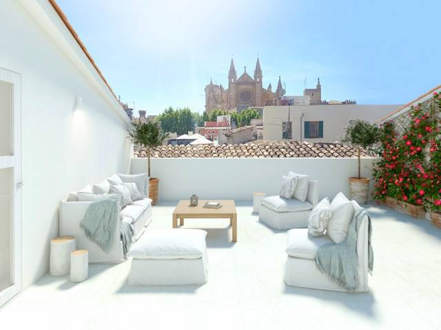 Luxury apartment project under construction in the old town of Palma