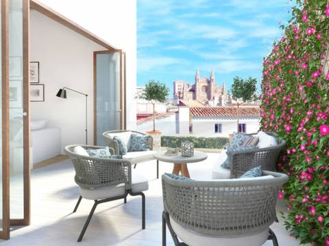 PAL11519 Magnificent project with top quality apartments in the historical center of Palma