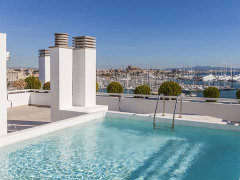 PAL11545 Luxury apartment with sea views and communal pool on the roof terrace, Palma