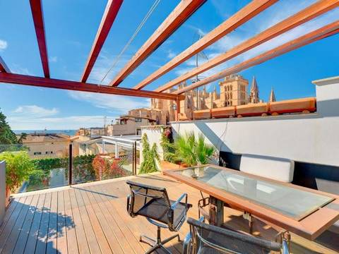 PAL2W-023U4G Palatial house for sale in Palma Old Town - with private garden, terrace and pool