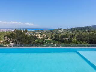 Luxury newly built villa with views over Palma bay in the exclusive neighbourhood Son Vida