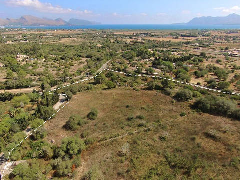 POL0364 Rustic plot of land with spectacular sea views and building license for sale near Pollensa