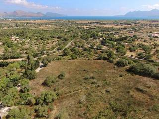 Rustic plot of land with spectacular sea views and building license for sale near Pollensa