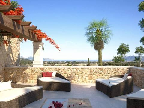 POL0396 Plot with sea views and project for sale in a prestigious area near Pollensa Golf