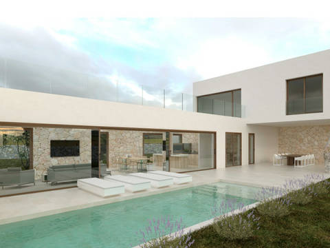 POL0492POL4 Modern villa and ideal holiday home with swimming pool in Crestatx, Pollensa