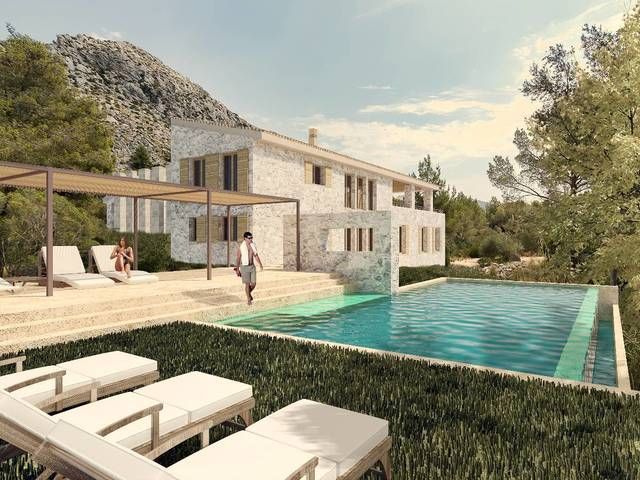 Building plot with villa project in the prestigious area of Ternelles, Pollensa