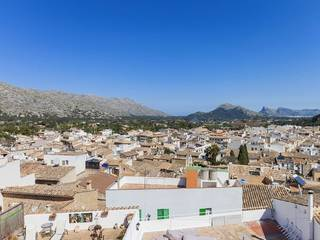 Really impressive town house for sale with outstanding views over to the bay of Pollensa