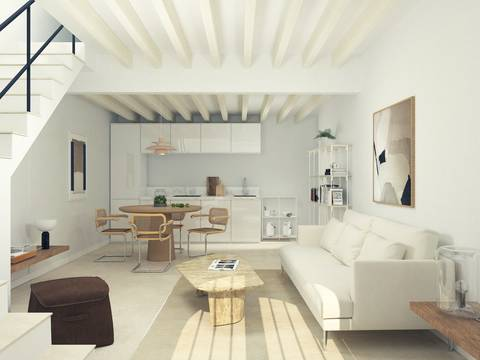 POL20142 3 bedroom town house with top terrace to reform in the centre of Pollensa