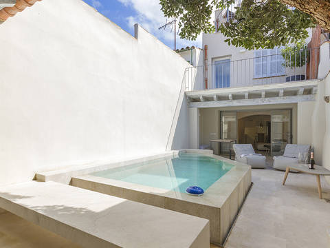 POL20316 Renovated town house with pool, roof terrace and fabulous views in Pollensa