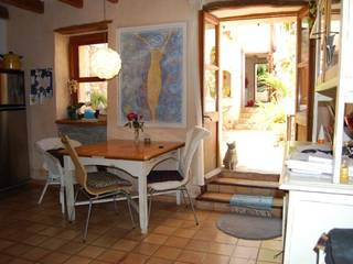 Traditional town house with patio garden in the centre of Pollensa old town