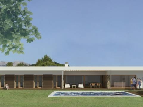 POL40173 Villa project in a residential area with all the services and beautiful views in Pollensa