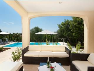 Modern villa for long term rental in a peaceful location near Pollensa with panoramic views