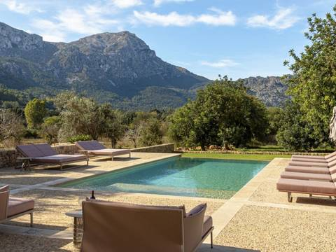 POL52515RM Luxurious five bedroom country home with stunning valley views near Pollensa
