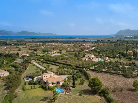 POL5491RM Fabulous country house between Pollensa and Alcudia with views to the mountains