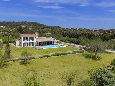 POL5545ETV Contemporary 4 bedroom villa with pool and amazing views in Pollensa