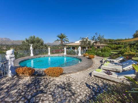 POL5851 Fantastic country home with pool and marvellous views for sale close to Pollença