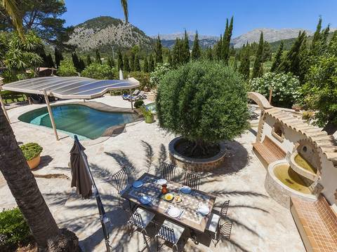 POL5VOP985 Superbly renovated finca for sale in Pollensa with pool and jacuzzi