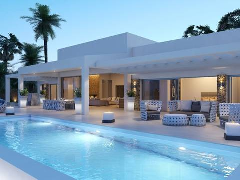 POLMOD5 Modern villa with pool and typical Ibizan style architecture in a tranquil location Mallorca North
