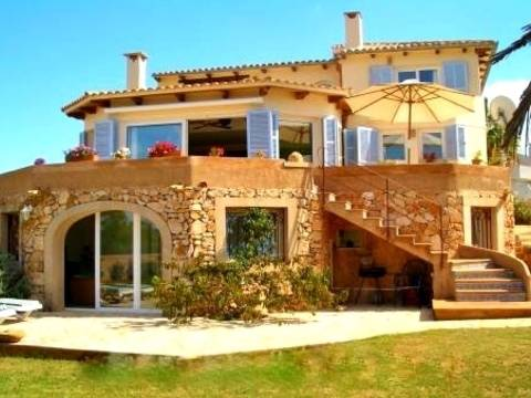 PTC4KSO054 Villa with 3 individual apartaments for sale with views to the Port of Porto Colom, Felanitx