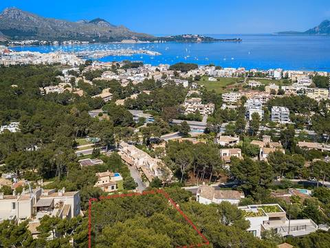 PTP0255 Build your dream villa with bay views in the North of Mallorca