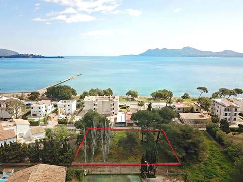 PTP0539 Fantastic building plot close to the beach in Llenaire, Puerto Pollensa