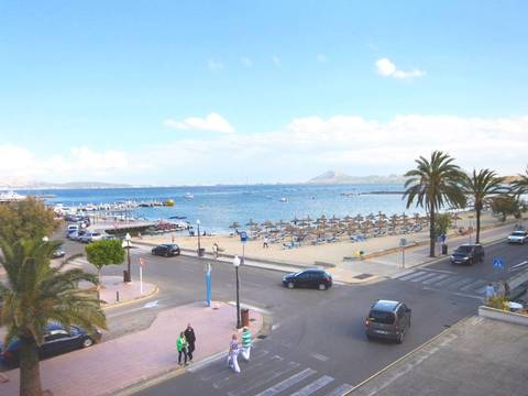 PTP11367 Excellent first line apartment next to the harbour in Puerto de Pollensa