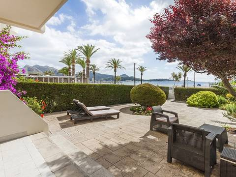PTP11609 Spectacular ground floor apartment on the front line with great views of the bay of Puerto Pollensa
