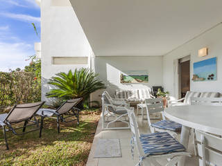 Garden apartment with community pool in Puerto Pollensa
