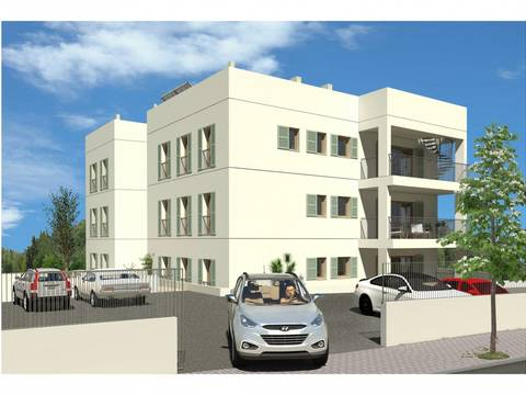 PTP11696 Modern apartment, under construction, with community pool in Puerto Pollensa