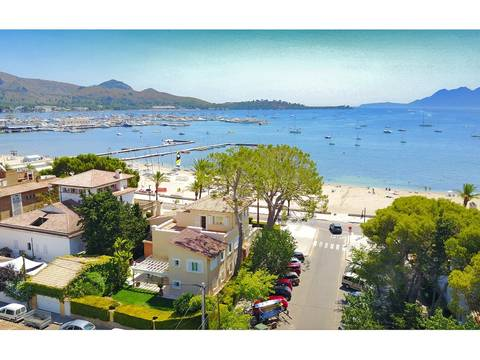 PTP40105 Beachfront villa for sale with possibility of pool in prime location in Puerto Pollensa