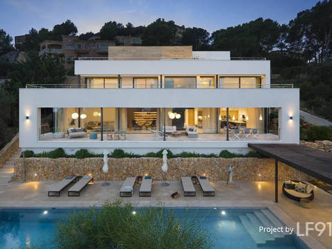 PTP40111POL4 Newly built, ultra-modern 5 bedroom villa with fantastic views over Puerto Pollensa and the bay