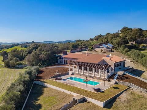 SAM52508 Country home on a huge plot with marvellous views of Santa Margalida