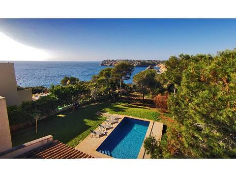 SAN40057 Stunning seafront villa for sale in privileged location in Cala Santanyi